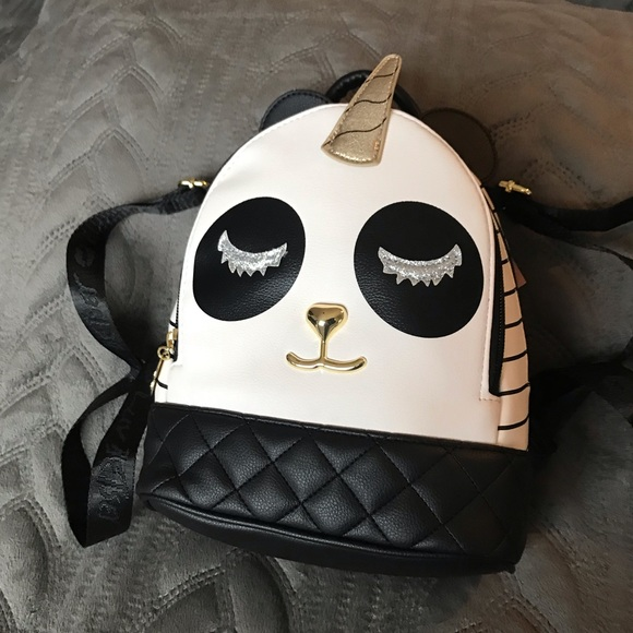 detailed pictures big discount of 2019 women NWT-RARE PANDA UNICORN BETSEY JOHNSON BACKPACK! NWT